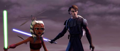 Ashley Eckstein Ahsoka and Anakin prepare their battle strategy in a scene from the upcoming 'Star Wars: The Clone Wars,' the first-ever animated Star Wars project from Lucasfilm Animation and Star Wars creator George Lucas. 'Star Wars: The Clone Wars' wi