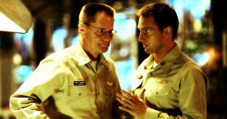 Sam Shepard Left:  as Capt. George Cummings; Right: Josh Lucas as Lt. Ben Gannon.