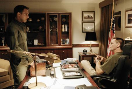 Sam Shepard Josh Lucas (l) and  star in Columbia Pictures' epic action adventure Stealth. Photo credit:  Simon Cardwell