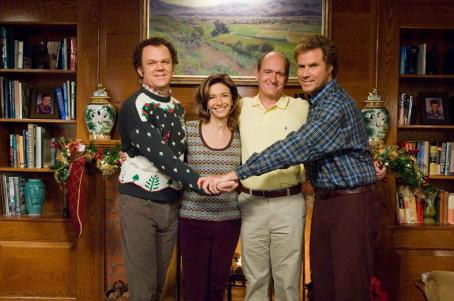 Step Brothers - Brennan Huff (Will Ferrell, left) and Dale Doback (John C. Reilly, right) are two middle-aged, immature, overgrown boys forced to live together as stepbrothers when Brennan's mother, Nancy (Mary Steenburgen, center left) marries Dale's father, Rob