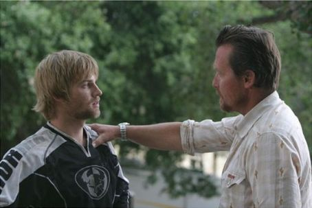 Mike Vogel Left:  as Trip; Right: Robert Patrick as Earl.