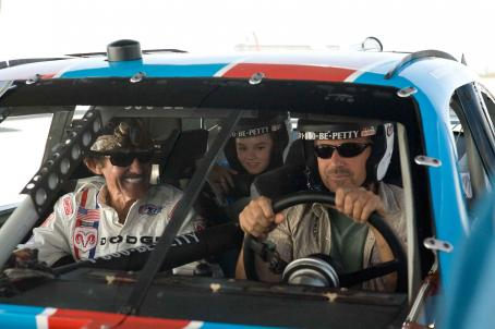 Richard Petty Kevin Costner, , and Madeline Carroll in SWING VOTE.