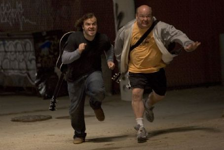 Kyle Gass Jack Black as JB and  as KG in New Line Cinema 'Tenacious D in the Pick of Destiny' 2006