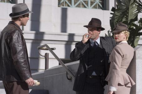 The Black Dahlia Josh Hartnett, Aaron Eckhart and Scarlett Johansson in Universal Pictures'  - 2006