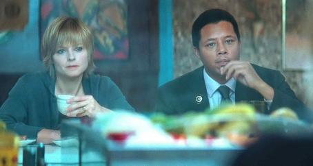 "The Brave One TERRENCE HOWARD as Detective Mercer and JODIE FOSTER as Erica Bain in Warner Bros. Pictures' and Village Roadshow Pictures' psychological thriller "","" distributed by Warner Bros. Pictures. Photo courtesy of Warner Bros"