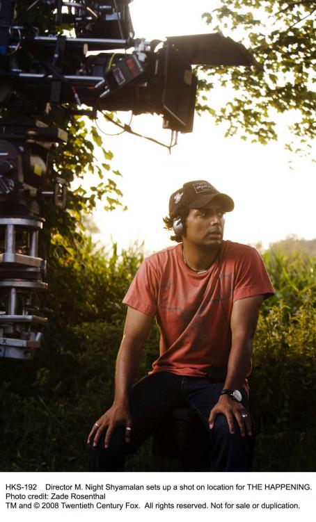 M. Night Shyamalan Director  sets up a shot on location for THE HAPPENING. Photo credit: Zade Rosenthal.