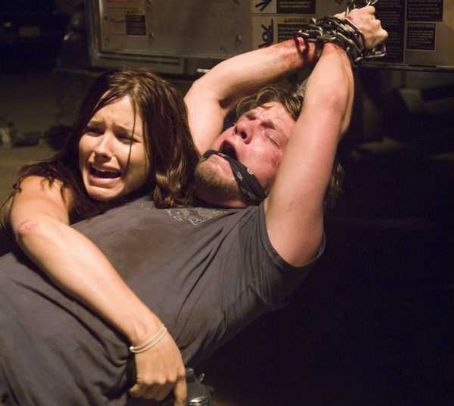 Zachary Knighton Sophia Bush (left) and  (right) star in Rogue Pictures' terrifying new thriller THE HITCHER.  Photo  Van Redin.