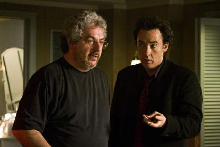 Harold Ramis  (left) and John Cusack (right) on the set of THE ICE HARVEST, a Focus Features release.