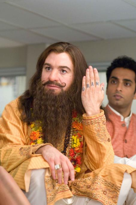 Rajneesh Mike Myers as Guru Pitka (left) and Manu Narayan as  (right) star in the comedy 'The Love Guru.' Photo Credit: George Kraychyk. Copyright (c) 2008 by PARAMOUNT PICTURES. All Rights Reserved.