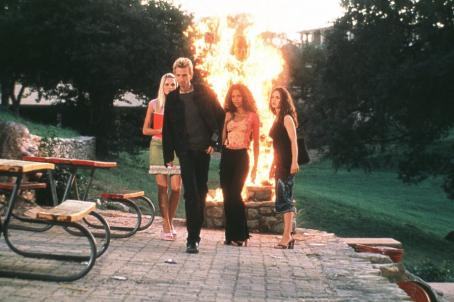 The New Guy D.J. Qualls, Sunny Mabrey, Joy Hadnott and Eliza Dushku in Columbia's  - 2002