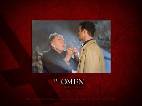Michael Gambon  as Carl Bugenhagen and Liev Schreiber as Robert Thorn in 20th Century Fox movie, The Omen - 2006