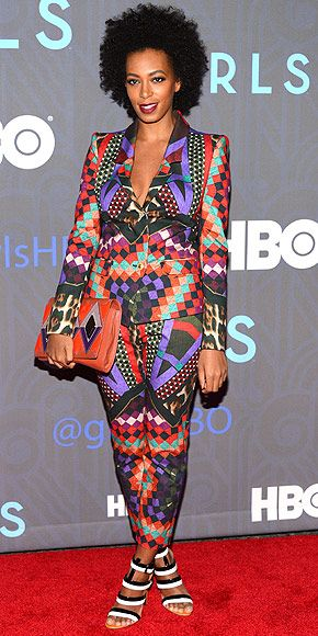 Solange Knowles: at the Girls premiere in NYC