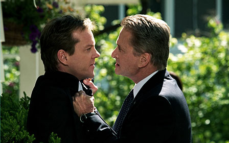 The Sentinel Kiefer Sutherland as David Breckinridge and Michael Douglas stars as Agent Pete Garrison in 20th Century Fox' crime movie  - 2006