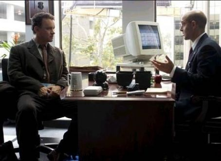 Stanley Tucci Tom Hanks and  in Steven Spielberg's The Terminal - 2004