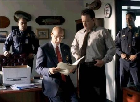 Stanley Tucci  and Tom Hanks in Steven Spielberg's The Terminal - 2004