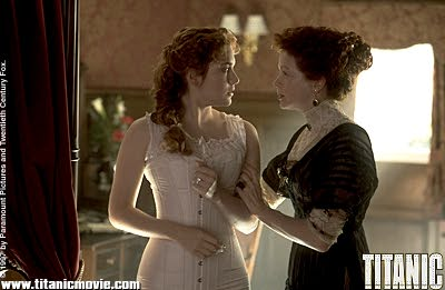 Frances Fisher Kate Winslet As Rose DeWitt Bukater And  As Ruth Dewitt Bukater In James Cameron's Titanic - 1997