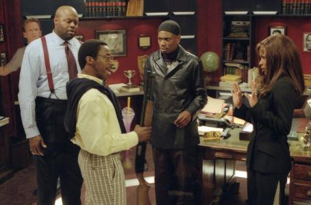 Dave Chappelle Neil Patrick Harris, Chi Mcbride, , Aunjanue Ellis and Eddie Griffin in Universal's Undercover Brother - 2002
