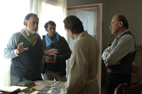 Francis Ford Coppola Far Left: Director ; Middle: Tim Roth; Far Right: Bruno Ganz. Photo by Cos Aelenei. © 2006 American Zoetrope INC, courtesy Sony Pictures Classics. All Rights Reserved.