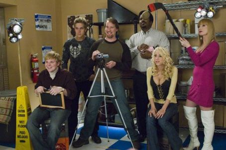 Craig Robinson Ricky Mabe as Barry, Jason Mewes as Lester, Jeff Anderson as Deacon,  as Delaney, Katie Morgan as Stacey and Traci Lords as Bubbles in The Weinstein Company drama romance 'Zack and Miri Make a Porno.'