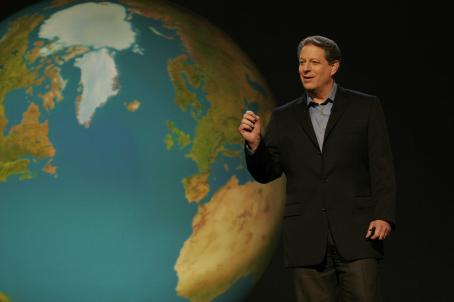 "Al Gore  in ""An Inconvenient Truth"". Paramount Classics and Participant Productions present a Lawrence Bender / Laurie David Production. Laurie David, Lawrence Bender, and Scott Z. Burns are the film's producers, Lesley Chilcott the co-pr"