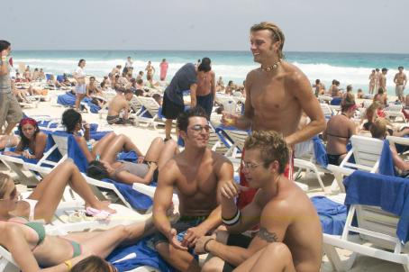 Jeremy Jazwinski - (clockwise from top) Casey, Jeremy and Matt chat up the girls on the beach in New Line Cinema's reality drama The Real Cancun.