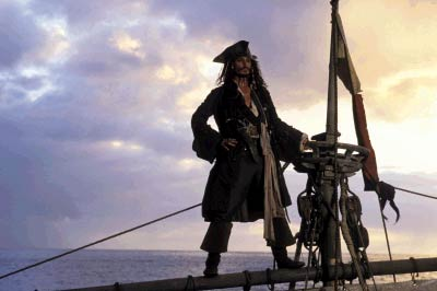 Jack Sparrow Johnny Depp of Walt Disney's Pirates Of The Caribbean: The Curse of the Black Pearl - 2003