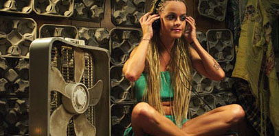 Taryn Manning  as Nola in drama and music movie Hustle & Flow distributed by MTV Films.
