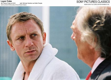 Michael Gambon Left: Daniel Craig as XXXX; Right:  as Eddie Temple.