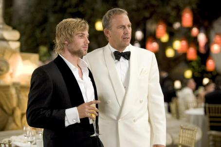 Mike Vogel  as Blake and Kevin Costner as Beau in Warner Bros. Pictures' and Village Roadshow Pictures' romantic comedy 'Rumor Has It...,' also starring Jennifer Aniston, Shirley MacLaine and Mark Ruffalo. Photo by Melissa Moseley