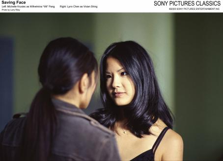 Lynn Chen Left: Michelle Krusiec as Wilhelmina 'Wil' Pang; Right:  as Vivian Shing; Photo by: Larry Riley.