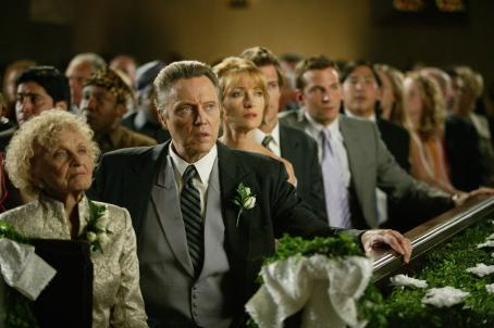 "Ellen Albertini Dow (left to right)  as ""Grandma Cleary,"" Christopher Walken as ""Secretary Cleary,"" and Jane Seymour as ""Kathleen,"" in New Line Cinema's upcoming Wedding Crashers, a fast-paced comedy of love turned"