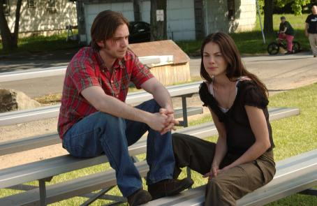 Aaron Stanford  and Michelle Monaghan in Paramount Classics' WINTER SOLSTICE.