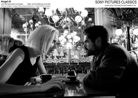 Angela's Eyes Left: Rie Rasmussen as Angel A; Right: Jamel Debbouze as André. Photo from Angel-A, courtesy of Sony Pictures Classics Inc. © 2006 CTB Film Company.