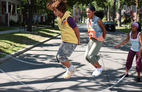 Jump In! Corbin Bleu as Izzy Daniels and Keke Palmer as Mary in Jump In
