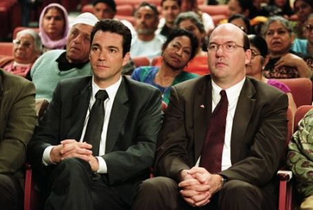 John Carroll Lynch Jon Tenney as Mark and  as Stuart in writer/director Albert Brooks' Looking for Comedy in the Muslim World, a Warner Independent Pictures release. Photo credit: Lacey Terrell © 2005 Shangri-La Entertainment, LLC.
