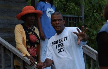 Tyler Perry Ms. Cicely Tyson and director  on location in Georgia while shooting