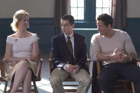 "Johnny Messner Karen (Cynthia Nixon), Dylan (Michael Angarano) and Jason O'Malley () in ""One Last Thing"", a Magnolia pictures release.© Magnolia Pictures."