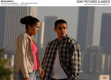 Jesse Garcia Left: Emily Rios as Magdalena; Right:  as Carlos; Photo coustesy of Sony Pictures Classics, all rights reserved.