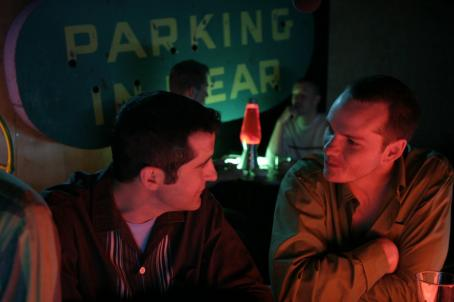 Anthony Clark Russell () and Paul (Peter Paige) in a scene from SAY UNCLE