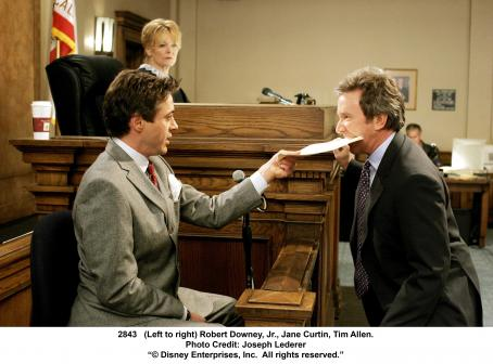 Jane Curtin (Left to right) Robert Downey Jr. as Dr. Kozak,  as Judge Claire Whittaker and Tim Allen as Dave Douglas. Photo Credit: Joseph Lederer © 2006 Disney Enterprises, Inc. All rights reserved.'