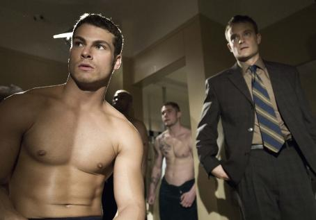 Chad Allen Shawn Roberts as Larry and  star as Donald Strachey in Ron Oliver's movie, Shock to the System - 2006