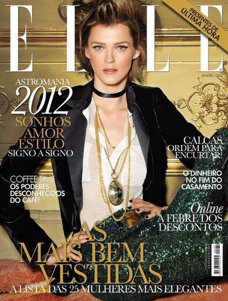 Carmen Kass - Elle Magazine Cover [Portugal] (January 2012)