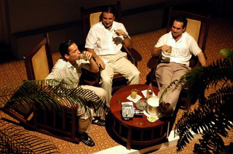 Nestor Carbonell In better times, the three Fellove brothers relax before the coming storm in Andy Garcia's film The Lost City. From the left they are Ricardo (Enrique Merciano), Fico (Andy Garcia), and Luis ().