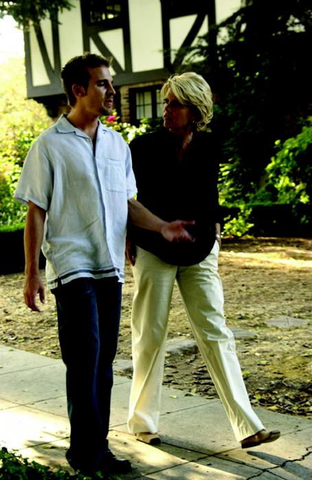 Meredith Baxter Ethan (Daniel Letterle) receives some excellent advice from his mother Harper played by  in THE MOSTLY UNFABULOUS SOCIAL LIFE OF ETHAN GREEN. Photo: J. Kawaja