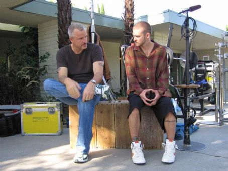 Alpha Dog Director Nick Cassavetes and Justin Timberlake behind the scene of  - 2007