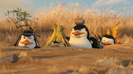 "Tom McGrath (Left to right) Penguins Kowalski (CHRIS MILLER), Rico, the Skipper (TOM McGRATH) and Private (CHRISTOPHER KNIGHTS) prepare to launch ""Operation: Tourist Trap"" in DreamWorks' ""Madagascar: Escape 2 Africa."" Photo credit: Madag"