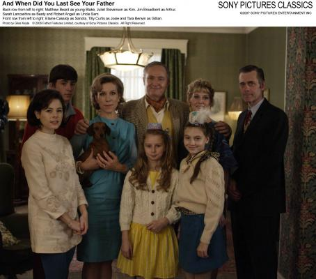 Matthew Beard Back row from left to right:  as Young Blake, Juliet Stevenson as Kim, Jim Broadbent as Arthur, Sarah Lancashire as Beaty and Robert Angell as Uncle Sam. Front row from left to right: Elaine Cassidy as Sandra, Tilly Curtis as Josie and Tara B