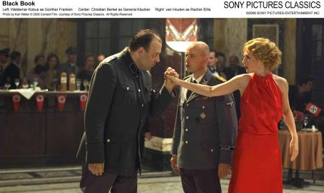 Black Book Left: Waldemar Kobus as Günther Franken. Center: Christian Berkel as General Käutner. Right: Carice van Houten as Rachel/Ellis. Photo by Karl Walter © 2006 Content Film, courtesy of Sony Pictures Classics. All Rights Reserved.