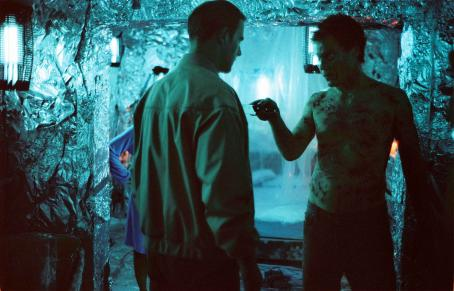 Michael Shannon Dr. Sweet (Brían O'Byrne) and Peter Evans () in BUG. Photo credit: Anthony Friedkin