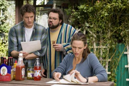 Kevin Smith Sam Jaeger (left),  (center), and Jennifer Garner (right) star in Columbia Pictures' Catch and Release. Photo Credit : Doug Curran.